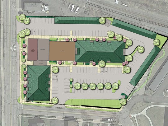 This shows the site plan of the proposed development