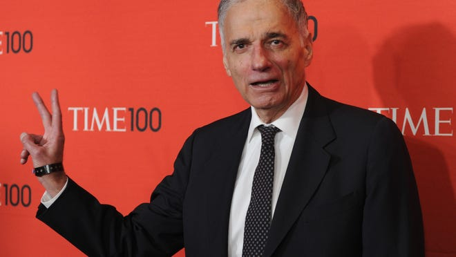 Ralph Nader attends the Time 100 Gala celebrating the Time 100 issue of the Most Influential People In The World at Jazz at Lincoln Center on April 24, 2012 in New York.  AFP PHOTO / TIMOTHY A.CLARY (Photo credit should read TIMOTHY A. CLARY/AFP/Getty Images)