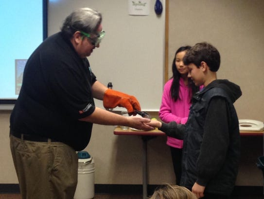 Fox Valley Christian Academy fifth-grade students visited