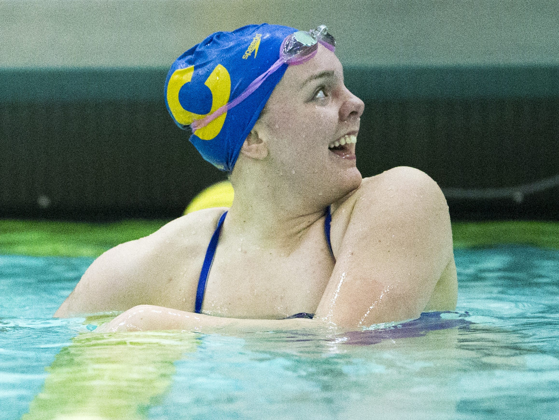 FILE – Carmel's Sammie Burchill won two individual events at Saturday's IHSAA swimming sectionals.