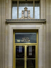 The entrance to the Main Event Gallery is sheathed in elaborate terracotta trim, patterns and scroll-work made by America's premier manufacturer, Gladding McBean.