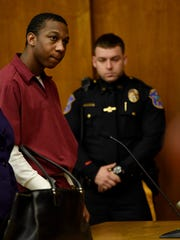 Jeavonte Dennis during an appearance in state Superior Court in Hackensack.