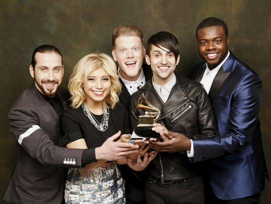 Pentatonix with their first Grammy Award.