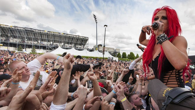 The 2014 roster of acts at Rock on the Range included Butcher Babies and vocalist Heidi Shepherd. This year's Rock on the Range is scheduled for May 20-22 in Columbus, Ohio.