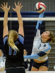 Great Falls High's Kaitlyn Gilbert, pictured last fall
