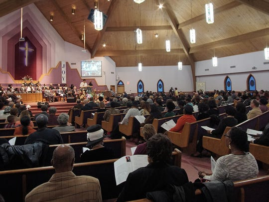 The Martin Luther King, Jr. Commemoration service at the Oasis of Love Church.