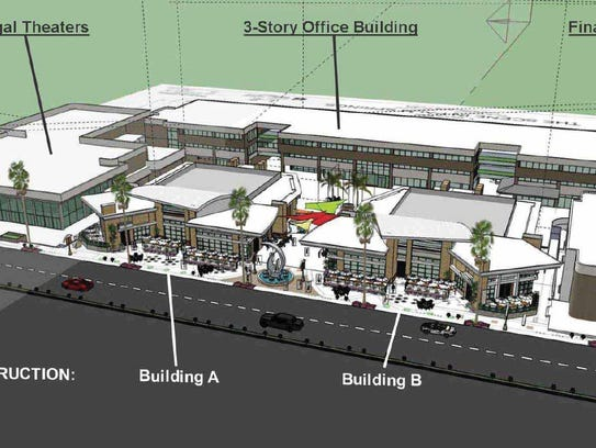 A rendering of The Scene, a proposed redevelopment
