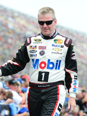 Jeff Burton drove in four Sprint Cup races in 2014,