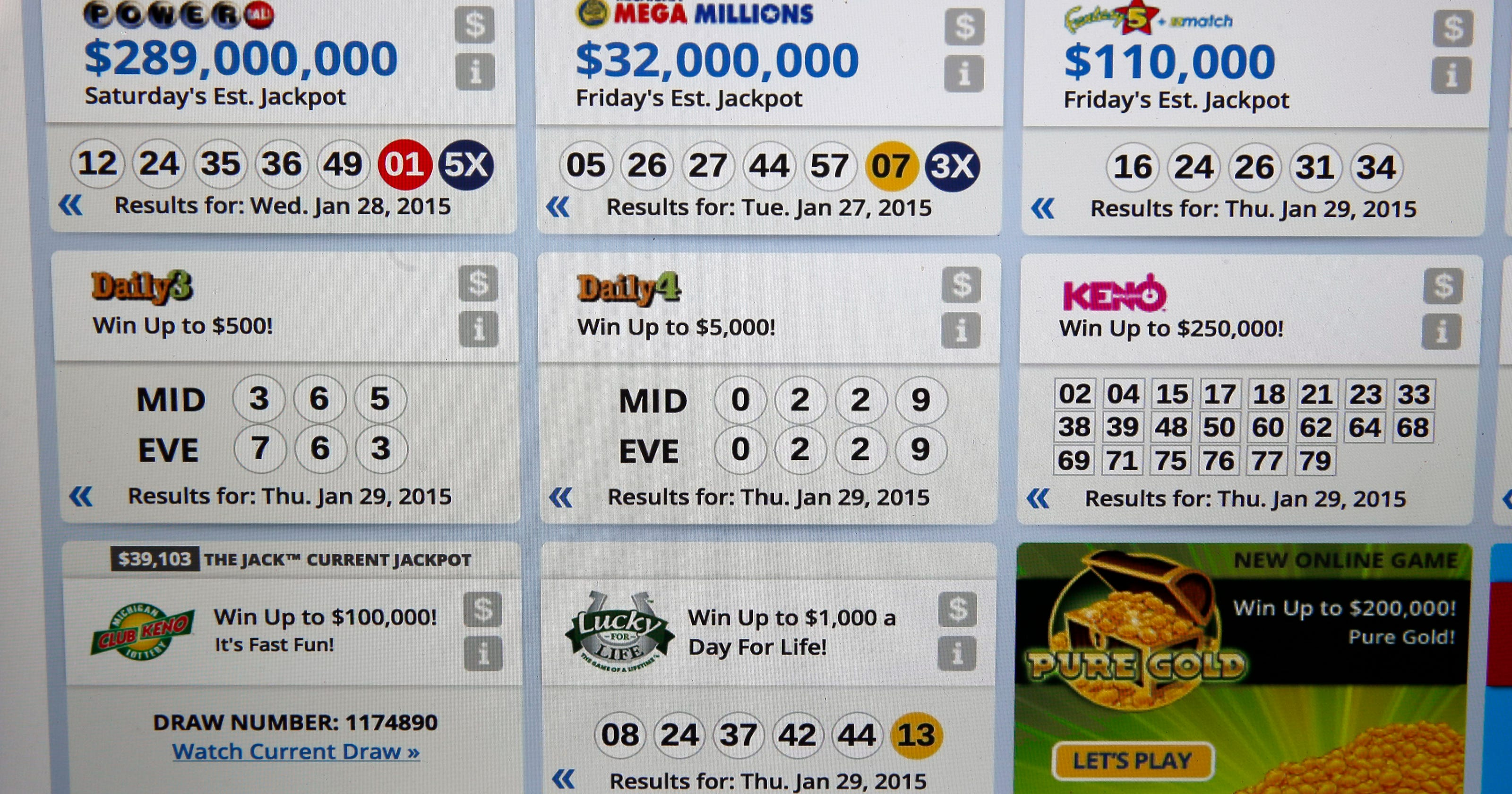 0, 2, 2, 9 come up twice in Michigan Lottery drawings