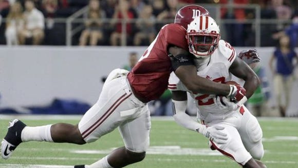 Reuben Foster made four total tackles for Alabama in