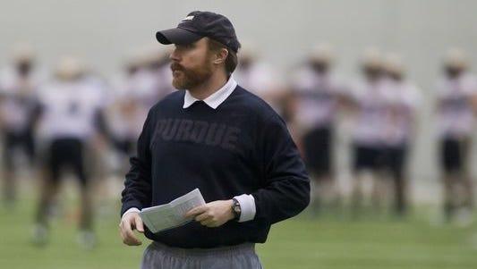 Ex-Purdue offensive coordinator and quarterbacks coach John Shoop