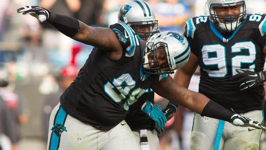 Former East Chicago Central and Purdue star, now Carolina Panthers defensive tackle Kawann Short