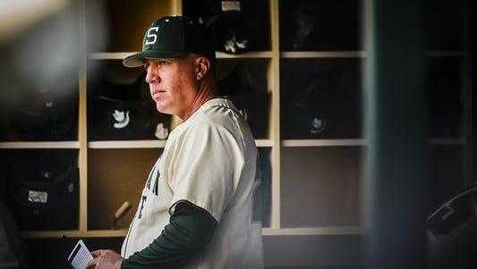 MSU baseball coach Jake Boss