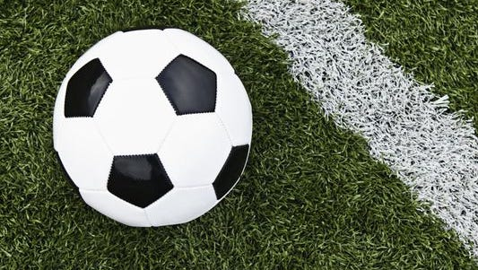 Stock image of soccer ball.