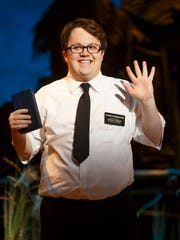 """Cody Jamison Strand in the musical """"The Book of Mormon."""""""