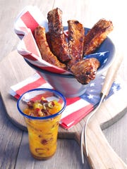 Cranberry Marinated BBQ Spare Ribs and Cranberry Dip