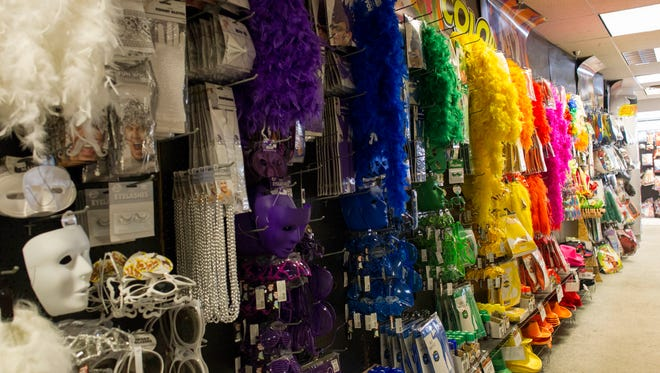 A range of different colored accessories at Halloween City.