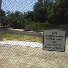The pool at Freedom Park is in bad shape. It's been closed three years. A county committee is trying to decide its fate.