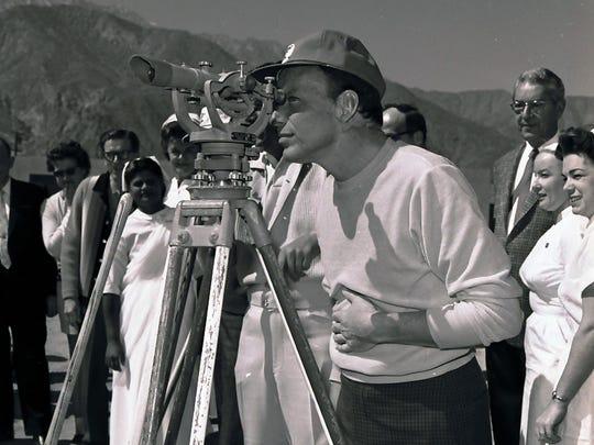 Frank Sinatra at Desert Hospital groundbreaking. (Photo credit: George Aquino)