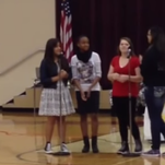 Four Wea Ridge Middle School students were suspended for performing a song that had not been approved at the talent show.