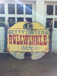The Bullwinkle Cafe sign.