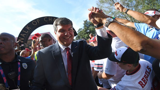 Matt Luke added a commitment from a three-star defensive tackle on Monday.