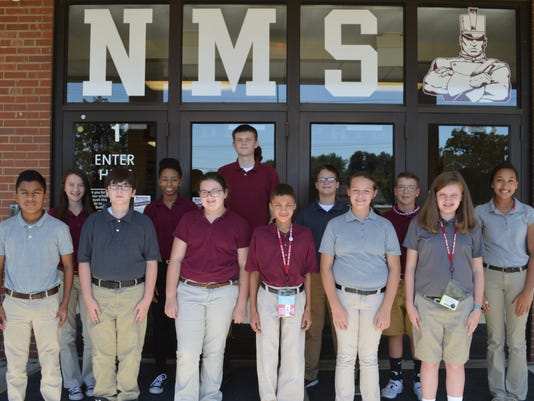 North Middle School August Students of the Month