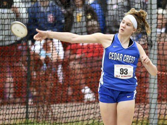 Cedar Crest's Hannah Woelfling is off to a fast start