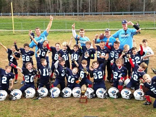 Fairview Titans PeeWee Football Team defeated Waverly