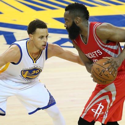 May 21, 2015: Houston Rockets guard James Harden (13)