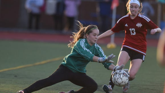 Goalie Caitlin Rundle and Glen Rock are in first place