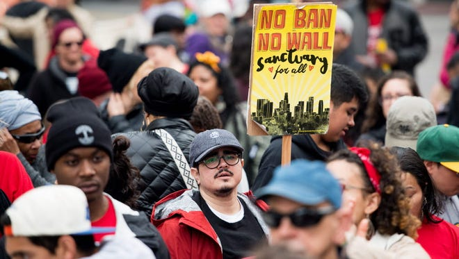 Rally for sanctuary in Oakland on Jan. 15, 2018.