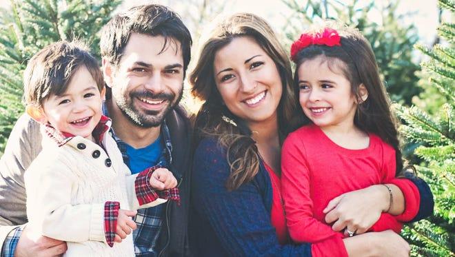The Mesiti family from left: Judah, David, Jocelyn and Sofia.