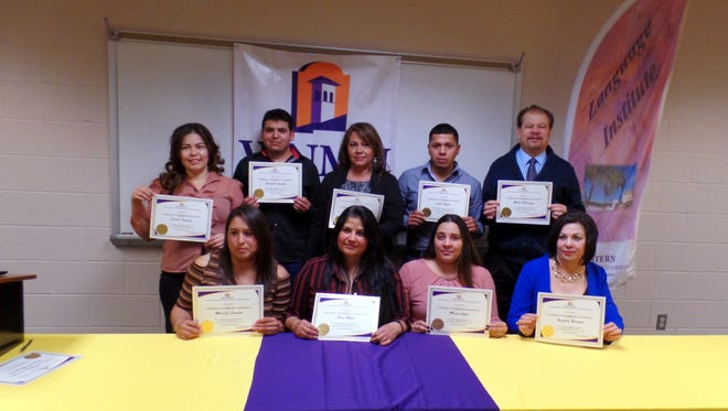 Students in the Western New Mexico University Language Institutes Domestic Program received certificates upon completion at WNMU-Deming.