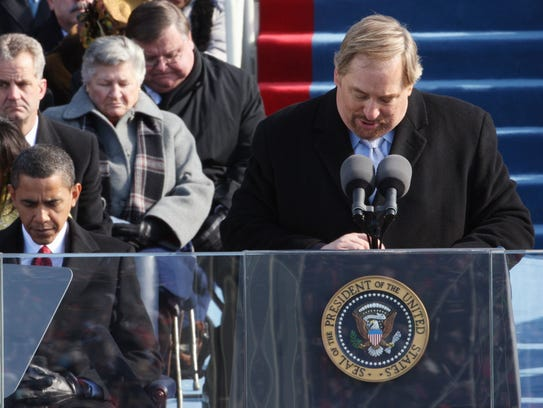 The Rev. Rick Warren gives the invocation at Obama's