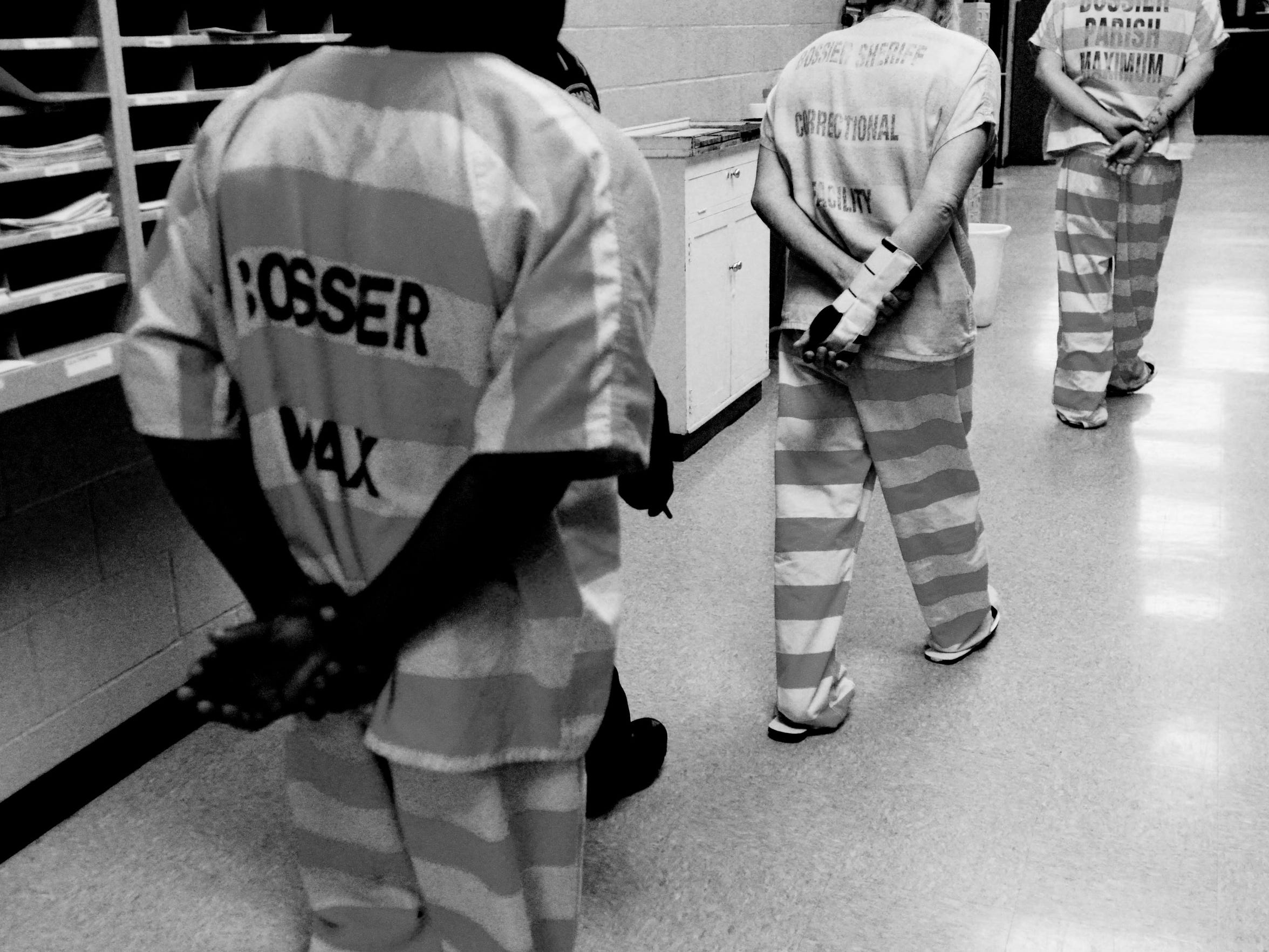 Inmates at the Bossier Maximum Security Facility in Benton.
