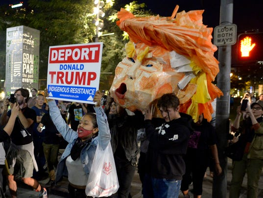 Thousands Across The USA Protest Trump Victory - Us news today president protesters map