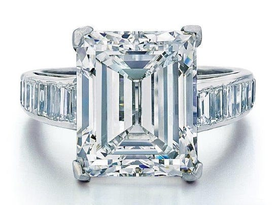 This is the 7.45-carat diamond engagement ring Donald Trump gave to his second wife, Marla Maples, an actress and TV personality.