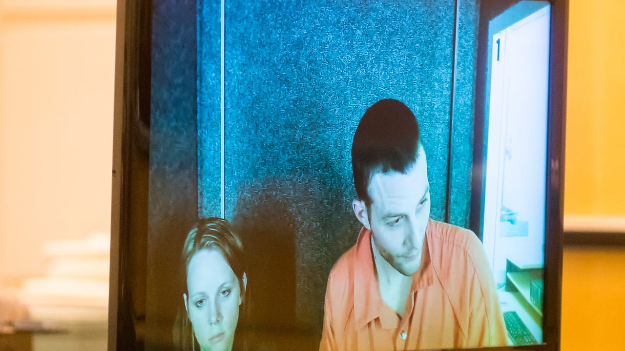 Accused wife killer Jeremiah E. Monell appeared via remote video at Cumberland County Court on Wednesday, January 4.