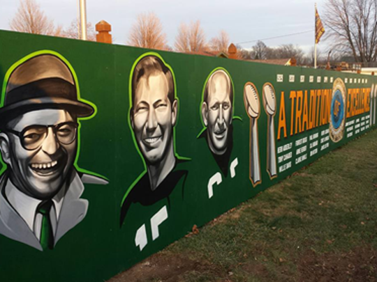 Spencer Young's mural featuring icons from the history