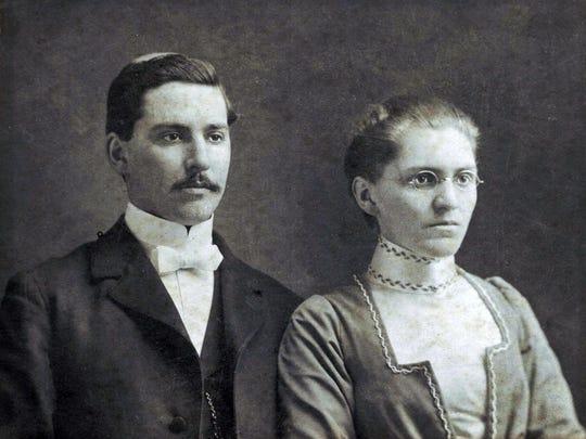 John and Nettie Dodson on their wedding day, Feb. 27, 1901.