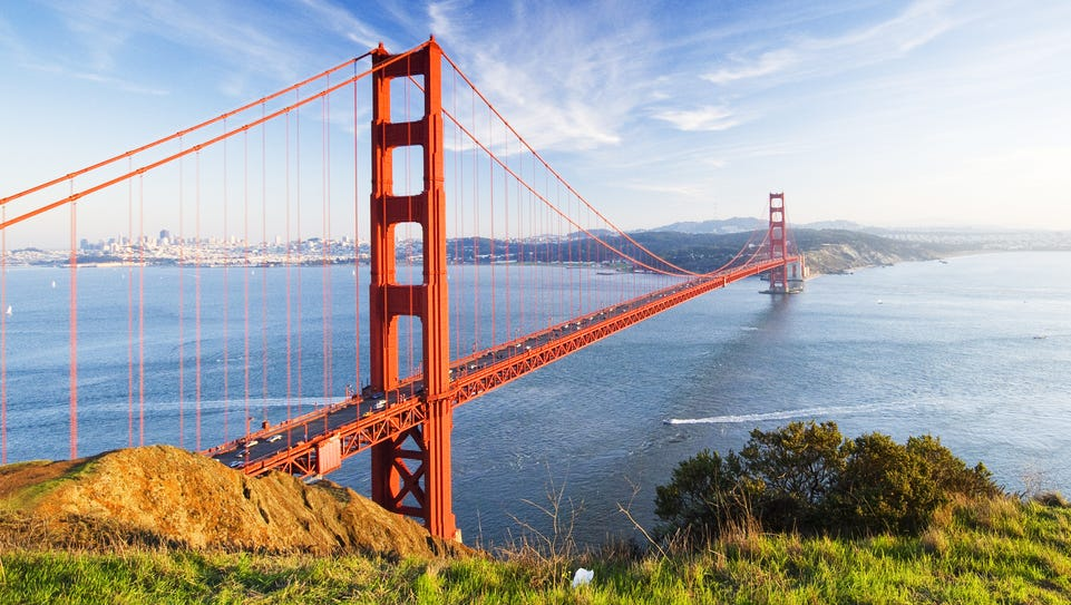 California - A beautiful, bright feat of modern engineering,