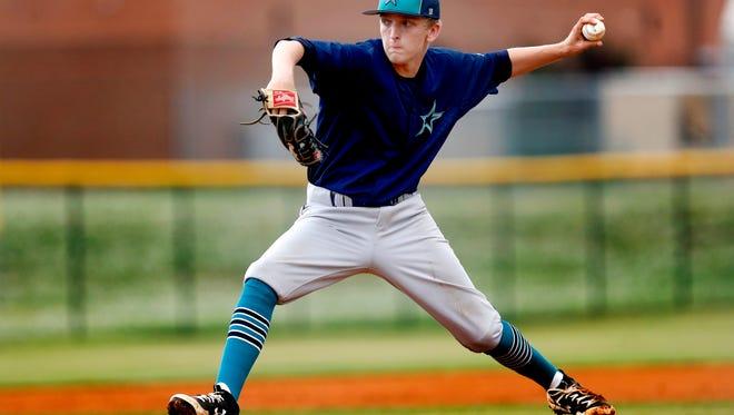 Siegel's Jaden Lasley (23) against Stewarts Creek during the Region 4-AAA baseball title game on Tuesday.