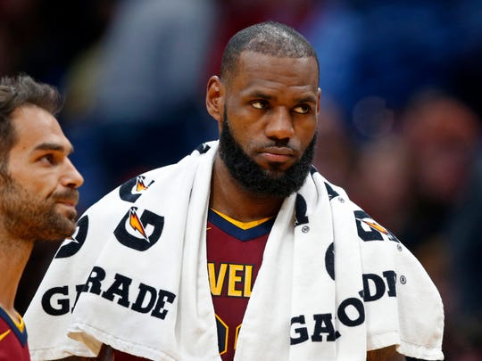 Cleveland Cavaliers forward LeBron James has a contract with Nike.