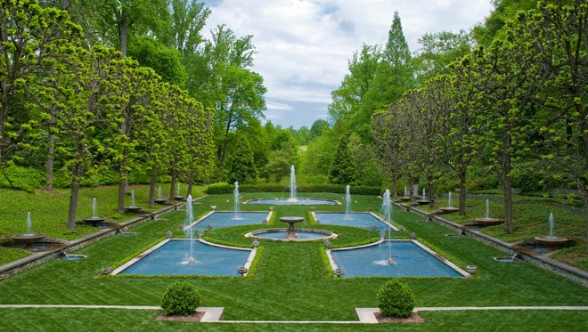 """The Italian Water Gardens will be the backdrop for a scene from """"Julius Caesar"""" during Delaware Shakespeare's performances at Longwood Gardens."""