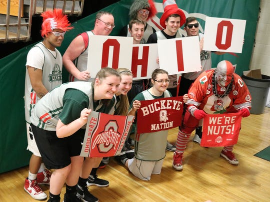 Ohio State superfan and Fremont resident Jon 'Big Nut' Peters was a special guest at the annual 'Can Do! Like You' community basketball tournament organized by the Ottawa County Board of Developmental Disabilities.