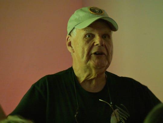 Eric Metzler, a volunteer moth researcher at White