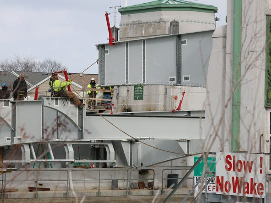 On Friday crews set the final bridge beams into place on the south side of the Port Clinton Lift Bridge, a process which has to be done with the utmost precision, according to the Ohio Department of Transportation.