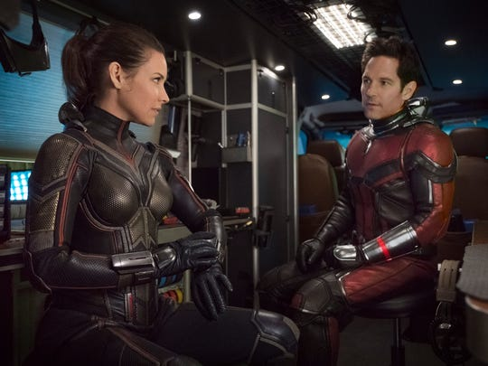 The Wasp/Hope van Dyne (Evangeline Lilly) and Ant-Man/Scott