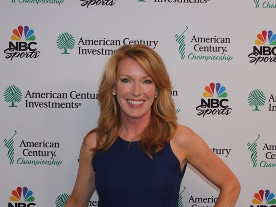 Heather Cox will do interviews for the TV broadcast at the American Century Championship celebrity golf .tournament this week.